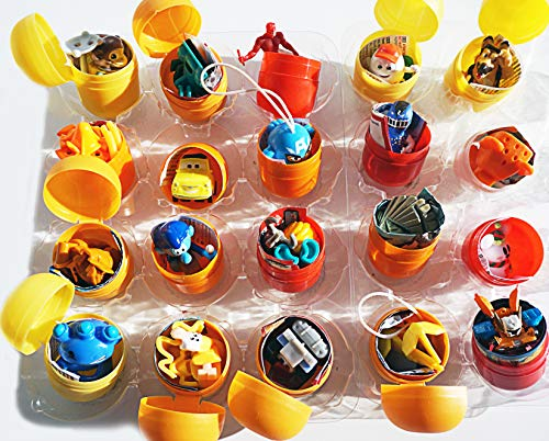 20psc for Boys Toys from Kinder Surprise (1.7 inches) and Other Eggs in Shells Capsules Party Favor Bag Toy Filled Easter