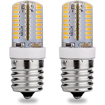 E17 LED Bulb, 120V AC, Warm White 3000K, 3 Watt, 25W Microwave Oven Replacement Bulbs, Appliance(E17), Freezer, Intermediate Base Light Bulb, 2-Pack