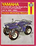Yamaha YFM350 ATV Owners Workshop Manual, Ahlstrand, Alan and Haynes, J. H., 1563924145