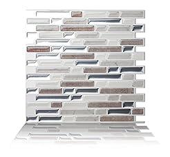 Tic Tac Tiles Anti-Mold Peel and Stick W...