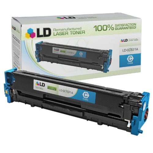 LD Compatible Toner Cartridge Replacement for HP 304A CC531A (Cyan) ()