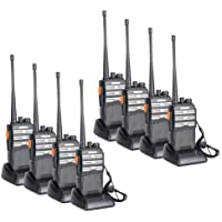 BAOFENG BF-888s Upgraded Two Way Radio BF-230 Pro Handheld Walkie Talkie Transiver 3.7v/1500mAh/400-470MHz US Plug Headphone With Rechargeable Battery(Pack of 8)