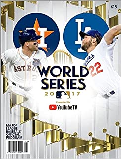 Image result for 2017 WORLD SERIES PROGRAM DODGERS VS. ASTROS CHAMPIONSHIP GAME PROGRAM