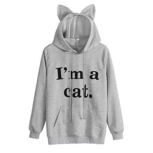 Sweatshirt,Toimoth Womens Cat Long Sleeve Hoodie Sweatshirt Hooded Pullover Tops Blouse ()