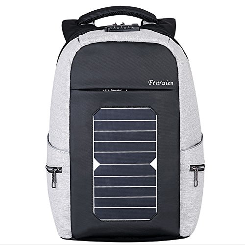 """Eshow Laptop Backpack with USB Charging Port Solar Charger, for Travel Business and School, Anti-theft Fits 17.6"""" Laptop, Large Capacity Thoughtful Compartment Design For Sale"""