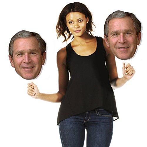 Single Pack Build A Head George W. Bush Big Heads Cardboard Face Cutout (Bush Cardboard Cutout)