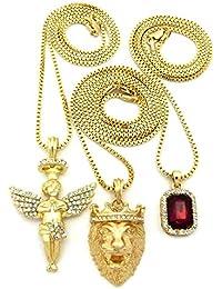 Micro Colorful Gemstone, Angel, Lion Pendant 24