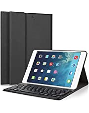 iPad Keyboard Case, LUCKYDIY Ultra Slim Stand Cover + Magnetical Detachable Wireless Bluetooth Keyboard for Apple iPad