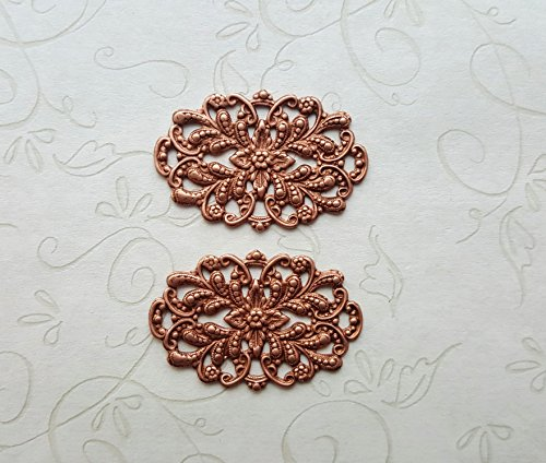 Rose Gold Ox Victorian Filigree (2) - RGRAT3038 ()