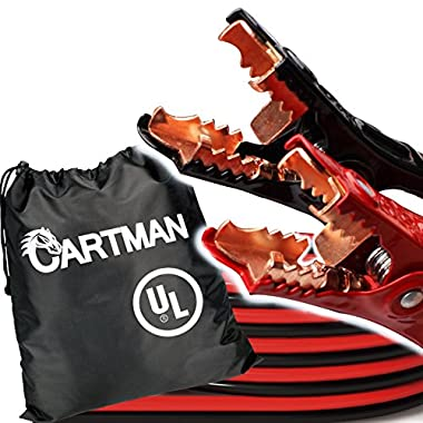Cartman Booster Cable 4 Gauge x 20Ft in Carry Bag (4AWG x 20Ft) UL-Listed