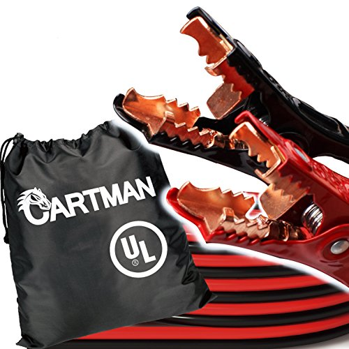 Cartman Heavy Duty Booster Cables 4 Gauge UL Listed in Carry Bag