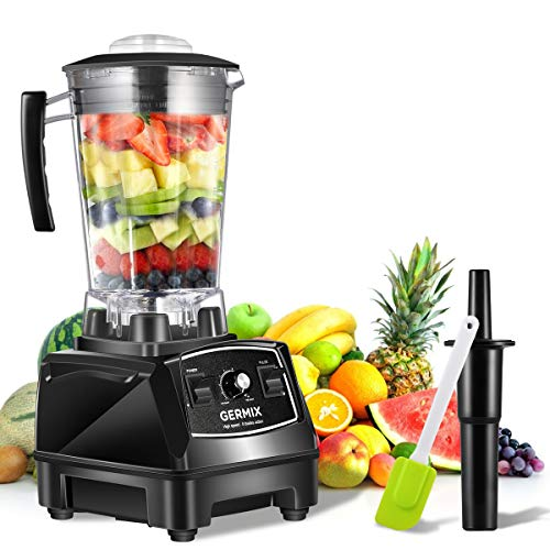 GERMIX 64 oz Professional Kitchen Blenders With 1500 Watt Base, High Power Speed Countertop Blender with 8 Stainless…