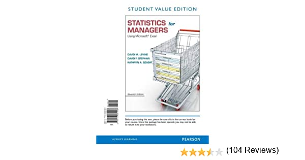 Statistics for Managers Using Microsoft Excel, Student Value ...