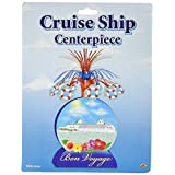 Beistle 57357 1-Pack Cruise Ship Centerpiece, 13-Inch