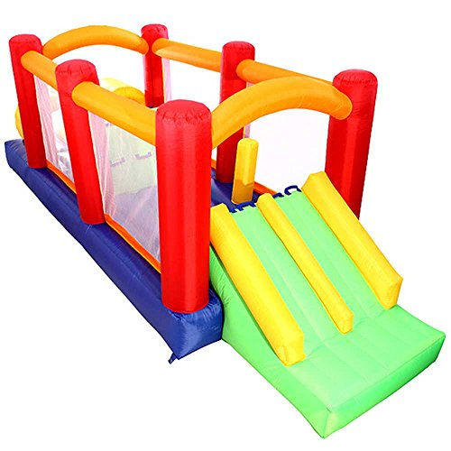 Obstacle Racer (Cloud 9 Mighty Bounce Twin Racer - Bounce House - Inflatable Kids Jumper with Blower)