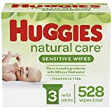 HUGGIES Natural Care Baby Wipes, 3 Packs, 528 Total Wipes: more info