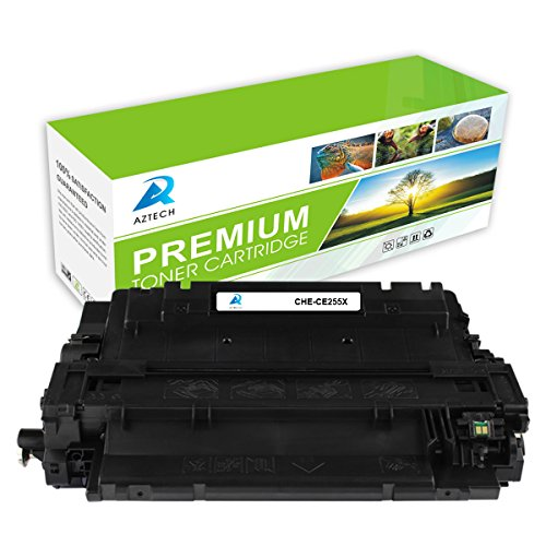 AZTECH 1 Pack 12,500 Pages High Yield Black Compatible Toner Cartridge Replaces HP 55X CE255X CE255 For HP LaserJet P3011 LaserJet Enterprise P3016 P3015Dn LaserJet Enterprise 500 MFP M525dn M525f