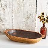 Rustic Dough Bowl, table centerpiece, vintage replica bowl, farmhouse chic, spring centerpiece, cottage chic, dough trencher bowl