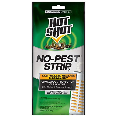 Hot Shot No-Pest Strip, Penetrating Odorless Vapor, 1-Count, 12-Pack