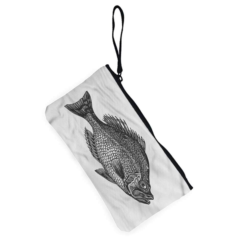 Womens Purse Pouch Zippered Fish,Ocean Corals Goldfish,Womens Coin Purses For Girls,Ladies,Womens