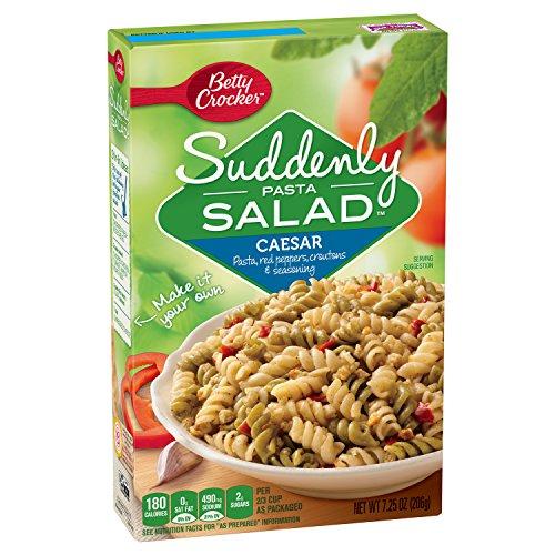 Italian Chicken Dish - Betty Crocker Suddenly Salad, Caesar Pasta Salad Dry Meals, 7.25 Oz Box
