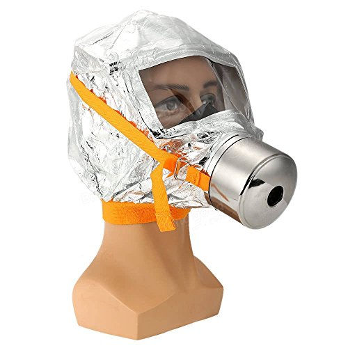 Fire Mask Emergency Escape Mask Smoke Gas Mask Self-life-saving Respirator for Home Hotel Shop Market - Safety & Protective Gear Masks -1 x FIRE ACTION Sign Sticker by Unknown (Image #2)