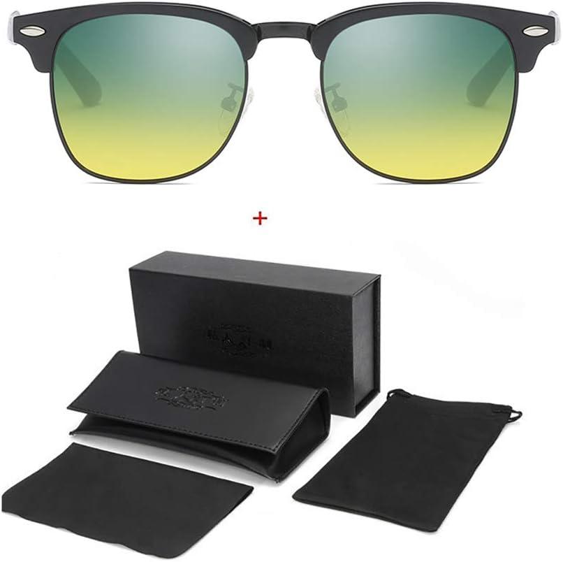 Fotocrómicas Gafas Moda Automático Que Cambia De Color Gafas De Visión Nocturna Polarizadas, Conductor Polarizado Espejo De Conducción, Visión Nocturna Gafas Cambio De Color Automático ,Black