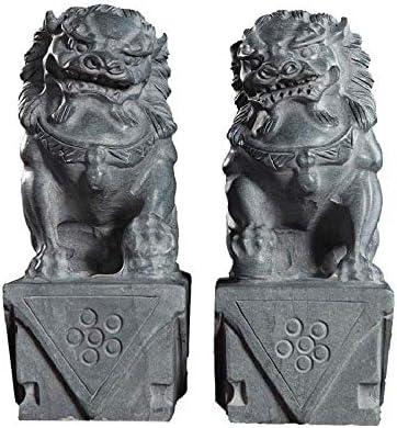 中国の風水繁栄のタウンハウス悪霊の装飾、ペア北京ライオンズ、Fuオフィスと家の像