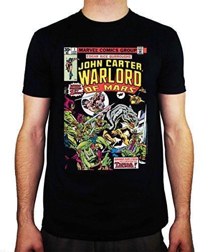 Famous Monsters Fans (Famous Monsters Mens Marvel Comics John Carter #1 (1977) T-shirt Small)
