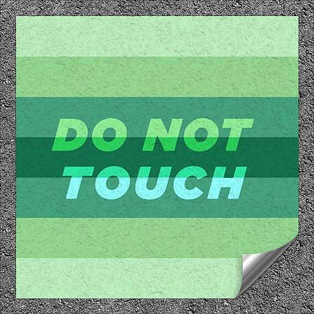 CGSignLab |''Do Not Touch -Modern Gradient'' Heavy-Duty Industrial Self-Adhesive Aluminum Wall Decal (5-Pack) | 16''x16''