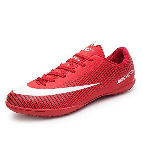 Respirant Asvert Football Rouge Chaussures Antidérapant Adolescent De Homme Professionnel qqHYr