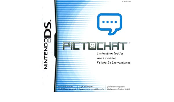 Amazon.com : Pictochat DS Instruction Booklet (Nintendo DS ...