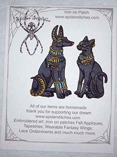 Anubis and Bastet Iron on Patch Iron on Patch Sew on Applique