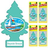 LITTLE TREES auto air freshener, Bayside Breeze, 6-packs (4 count)