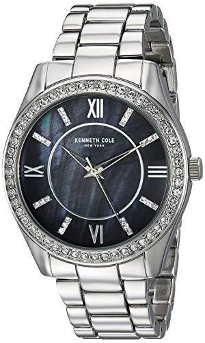 Kenneth Cole New York Women's 'Classic' Quartz Stainless Steel and Alloy Watch, Color:Silver-Toned (Model: KC50739002