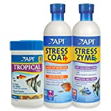 API Aquarium Water Conditioner & Tropical Food Bundle Pack