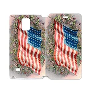 American Flag Flapping In The Wind On The Flower Group Samsung Galaxy note 4 Case Cover (Laser Technology) Kimberly Kurzendoerfer