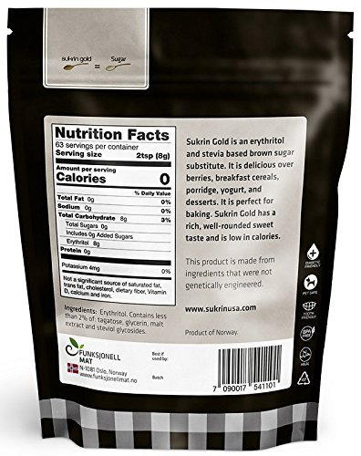 Sukrin Gold - The Natural Brown Sugar Alternative - 1.1 lb Bag (Pack of 3) by Sukrin (Image #2)