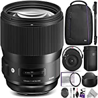 Sigma 135mm f/1.8 DG HSM Art Lens for CANON EF Cameras w/ Sigma USB Dock & Advanced Photo and Travel Bundle