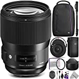 Sigma 135mm f/1.8 DG HSM Art Lens for NIKON F Cameras w/ Sigma USB Dock & Advanced Photo and Travel Bundle