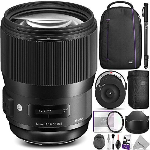 Sigma 135mm f/1.8 DG HSM Art Lens for NIKON F Cameras w/ Sigma USB Dock & Advanced Photo and Travel Bundle by Sigma