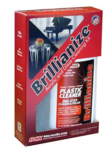 Brillianize Plastic and Glass Cleaning Kit with Microsuede Polishing Cloth