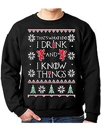 I Drink and I Know Things Ugly Christmas Sweatshirt