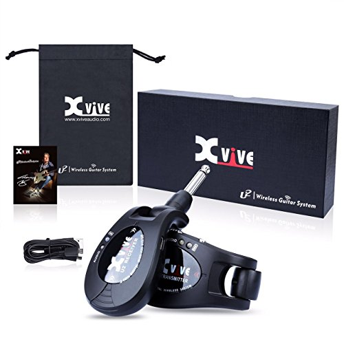 Xvive U2 rechargeable 2.4GHZ Wireless Guitar System - Digital Guitar Transmitter Receiver (Black) by Xvive (Image #4)
