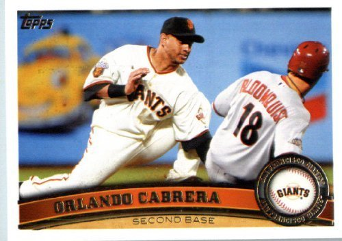 2011 Topps Update Series Baseball Card #US88 Orlando Cabrera - Cleveland Indians - MLB Trading - Store Orlando Indian