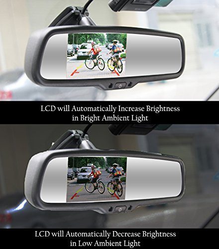 Master Tailgaters OEM Rear View Mirror with 4.3'' Auto Adjusting Brightness LCD + Manual Dimming - Universal Fit by Master Tailgaters (Image #3)