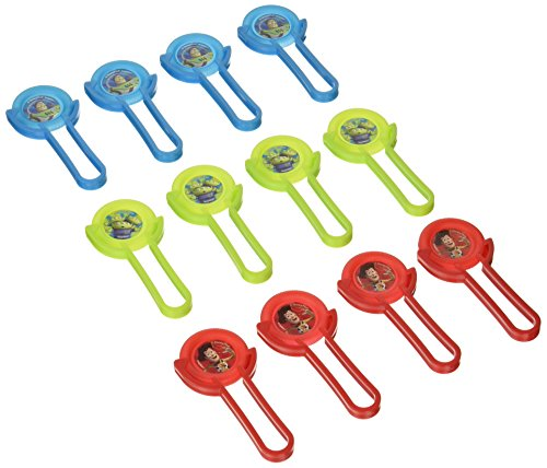 Green Alien Costume Toy Story (Toy Story Power Up Birthday Party Disc Shooter Favour , Pack Of 12, Red/Green/Blue , 4