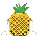 Go Now Fashion Fruit Pineapple Shaped Womens Pu Leather Clutch Purse Cross Body Bag