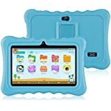 "Ainol Q88 Kids Android 7.1 OS Tablet 7"" Display 1G RAM 8 GB ROM Light Weight Portable Kid-Proof Shock-Proof Silicone Case Kickstand Available with iWawa for Kids Education Entertainment (Blue)"