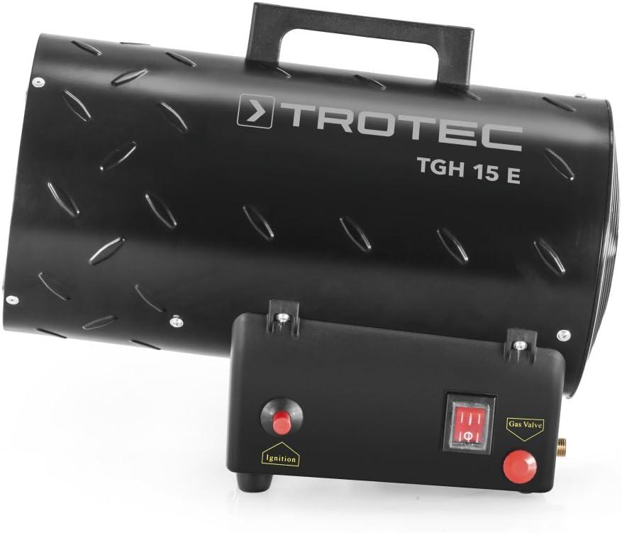 20m-gelb Verl/ängerungskabel Verbindungschlauch und Druckminderer 10 kW f/ür handels/übliche Gasflaschen TROTEC Gasheizgebl/äse TGH 11 E Gas Heizger/ät inkl